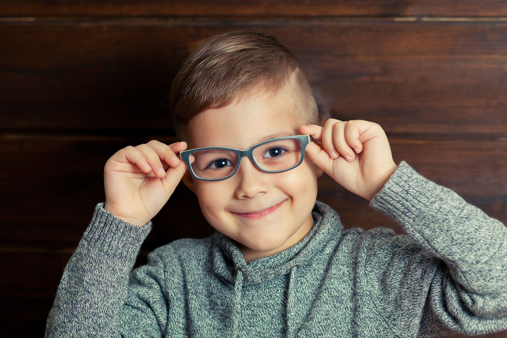 young boy pediatric eyeglasses